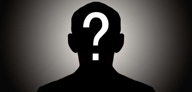 silhouette with question mark
