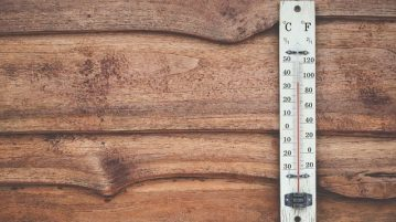 Thermometer on table