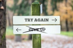 try again sign