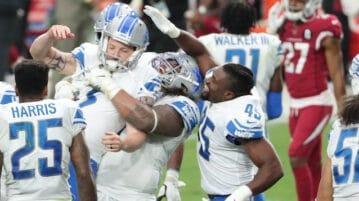 detroit lions celebrate football win