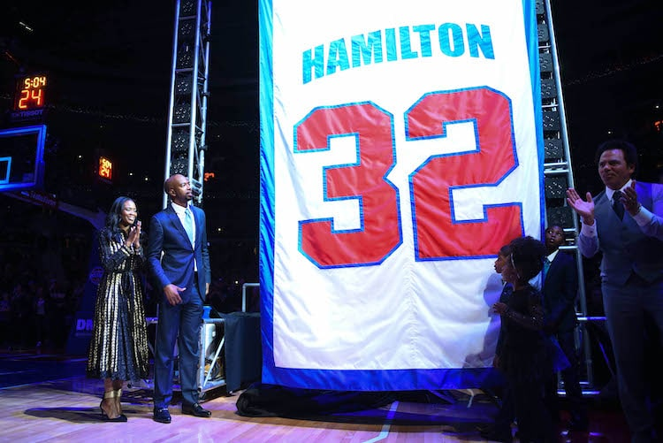 rip hamilton jersey retirement