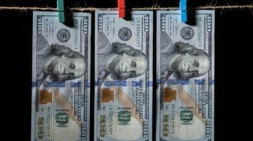 money hanging